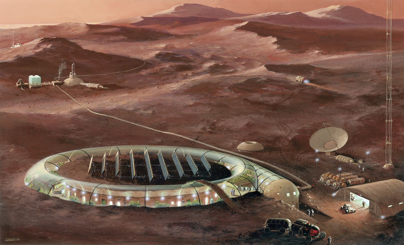 Mars base Illustration-n°5 by Manchu